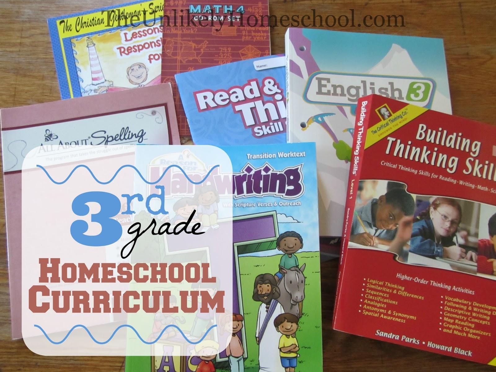 The Unlikely Homeschool 3rd Grade Homeschool Curriculum