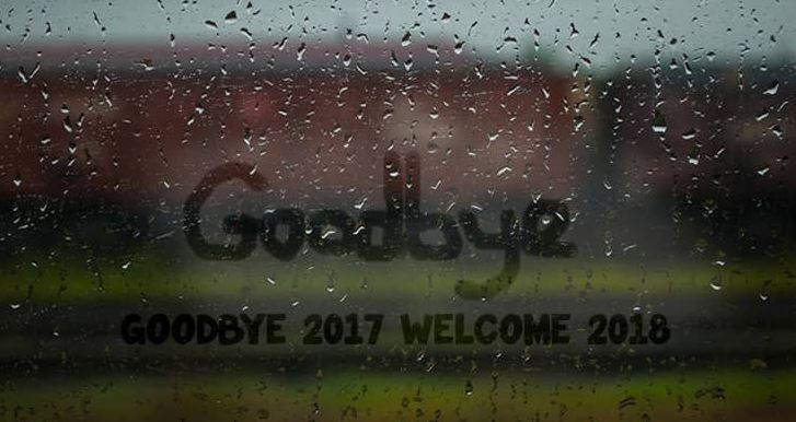 Goodbye 2017 Welcome 2018 Status Whatsapp Facebook Image