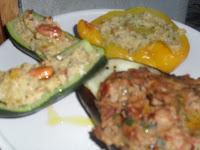 verdure ripiene senza carne al forno