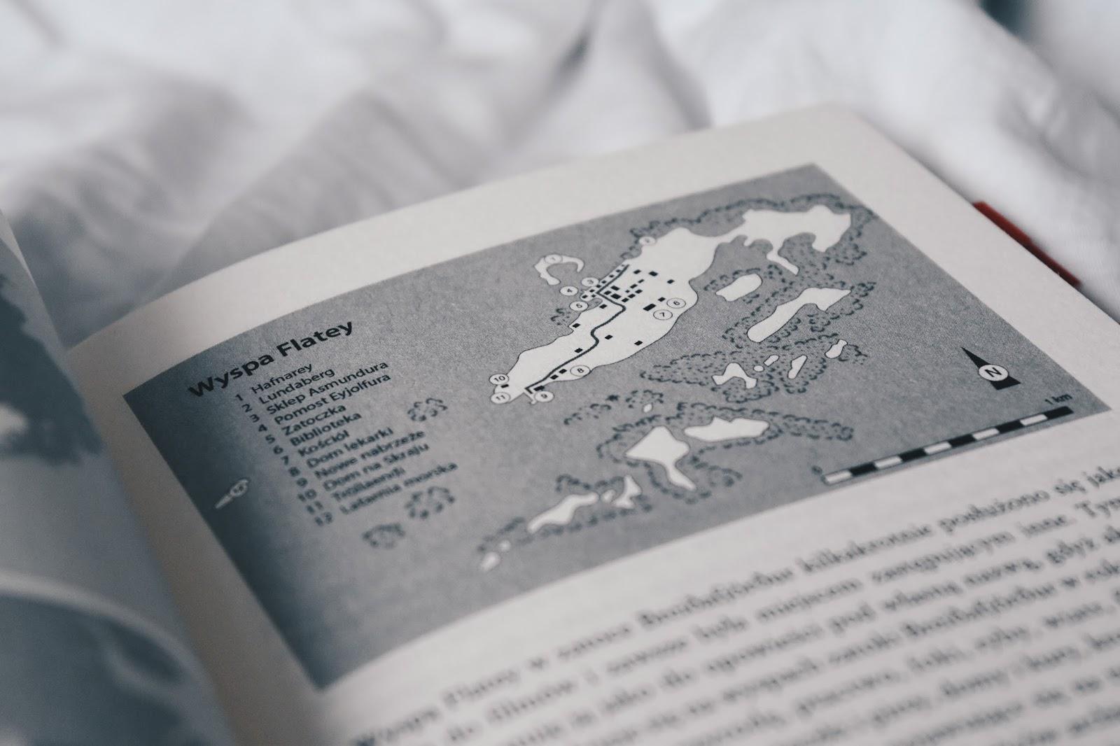 Tajemnica wyspy Flatey, fajny kryminał, lekki kryminał, wikingowie, mitologia nordycka,Editio black
