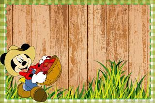 Farmer Mickey: Free Printable Mini Kit.