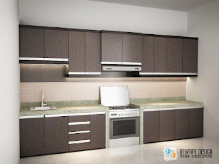 kitchen set dengan finishing hpl malang