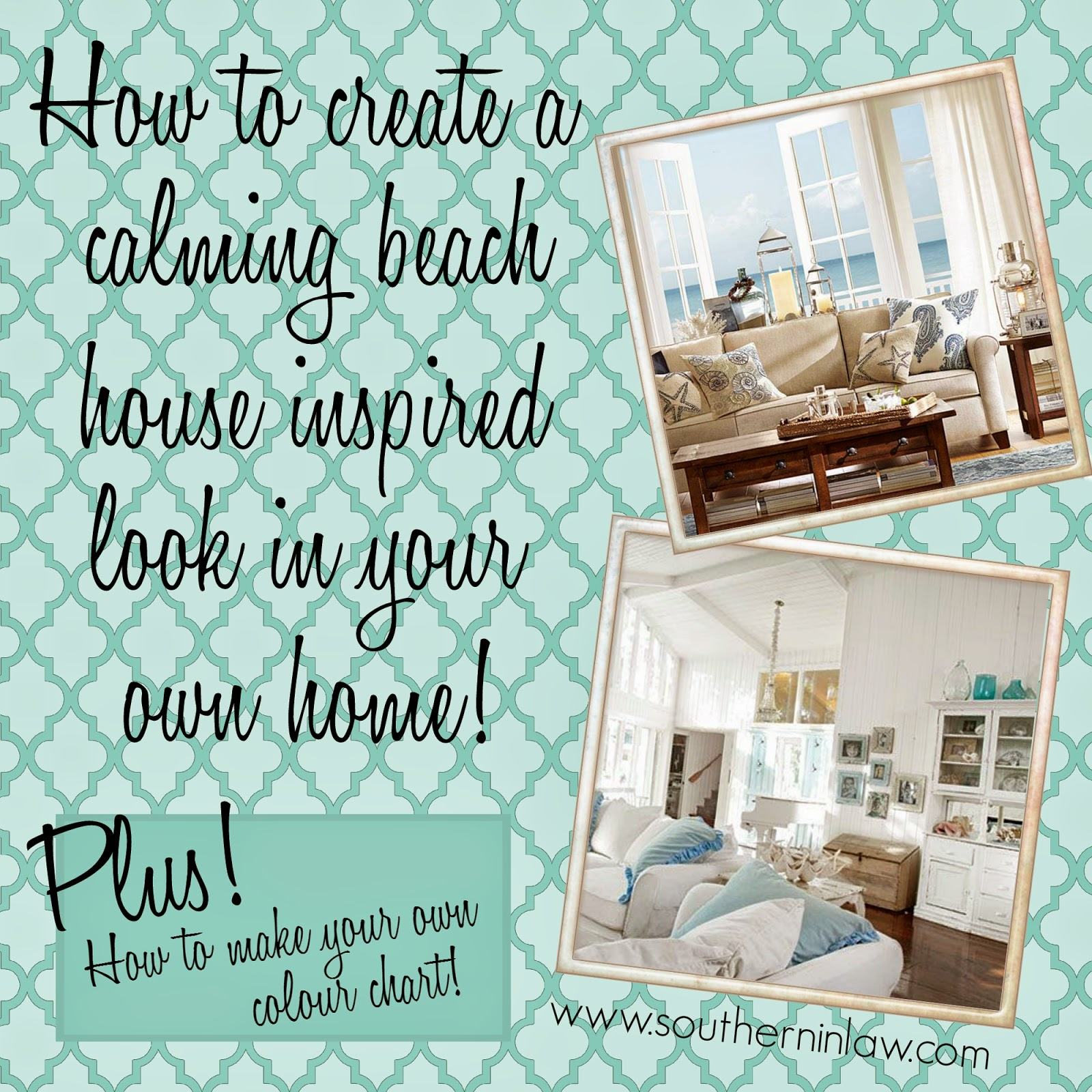 How to create a Shabby Chic Beach House Style Home - Beach Inspired Interior Design