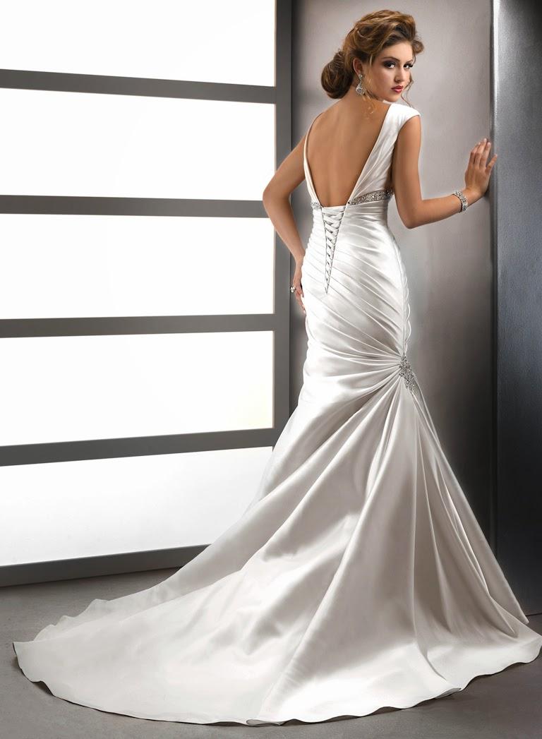 Brautkleid mit schönem Rücken.Brautkleid rückenfrei.