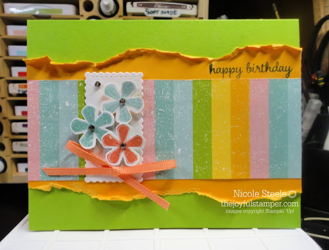 Pleased As Punch Designer Series Paper and Small Bloom Punch