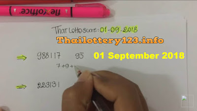 Thai lottery tips sure win number non miss 01 September 2018