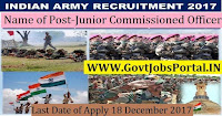 Join Indian Army Recruitment 2017– Junior Commissioned Officer, Soldier Technical