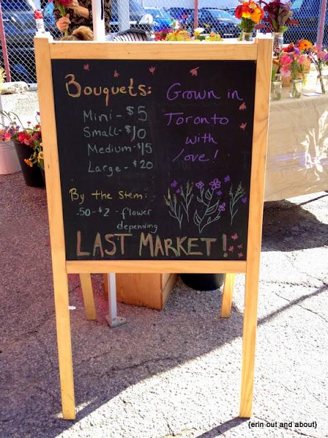 {erinoutandabout} Toronto Flower Market