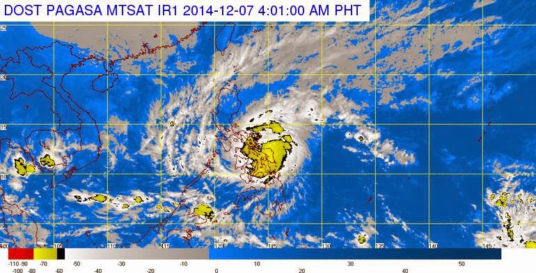 Typhoon Ruby PAGASA Latest Weather Update (December 7, 2014)