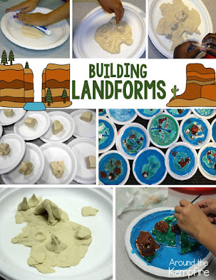 Building landforms with Crayola Air Dry Clay (salt dough works great too!)