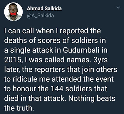 Ahmad Salkida insists the Nigerian army suffered huge loss of lives in latest boko haram attack; Says he lost an in-law in the attack