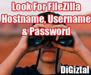find forgotten FileZilla hostname, username and password