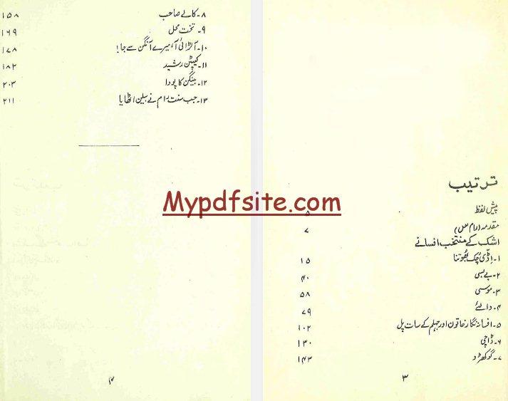 ashk-ke-muntakhab-afsane book