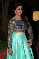 Nikki Galrani in Green Skirt  Top at Marakathamani music launch ~  Exclusive (48).JPG