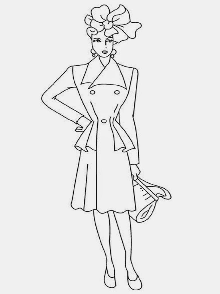 Model Sketches For Fashion Design Templates Sketch ...