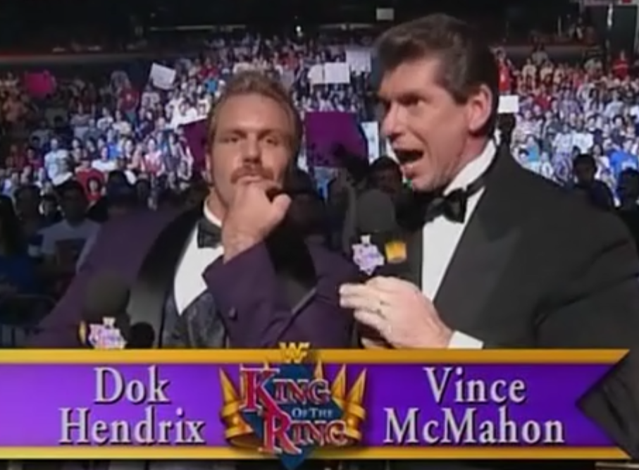 WWF / WWE - King of the Ring 1995 - Doc Hendrix and Vince McMahon were commentators for the show