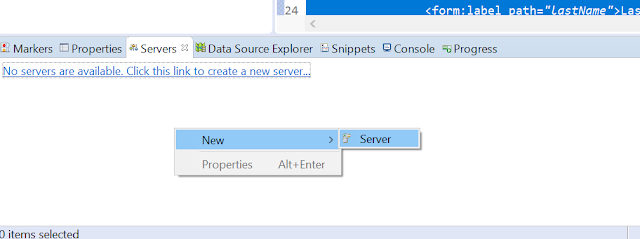 Adding new server eclipse