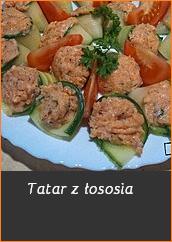 Przepisy na sylwestra przekąski przystawki pomysł Tatar z łososia