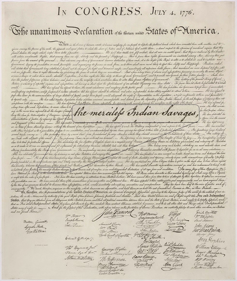 The role of power when forging the declaration of independents and the american identity