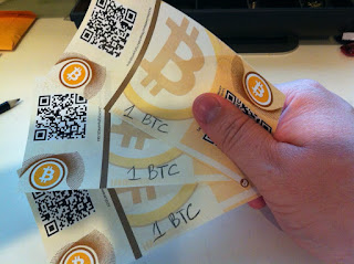PaperWallet - source https://en.bitcoin.it/wiki/File:FirstBitcoinBills.jpg