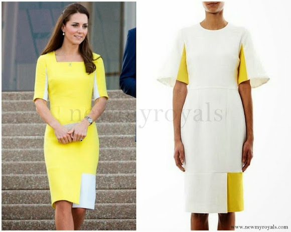 Kate Middleton wore ROKSANDA ILINCIC Wool-Crepe Dress - SS14 Collection