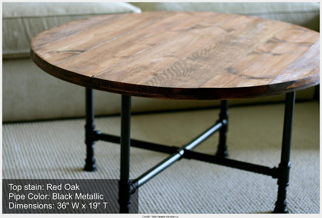 Must see Round Industrial Coffee Table Photograph