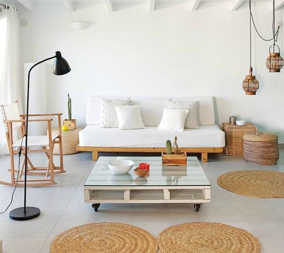 Decorando con: Mimbre - cestos y alfombras