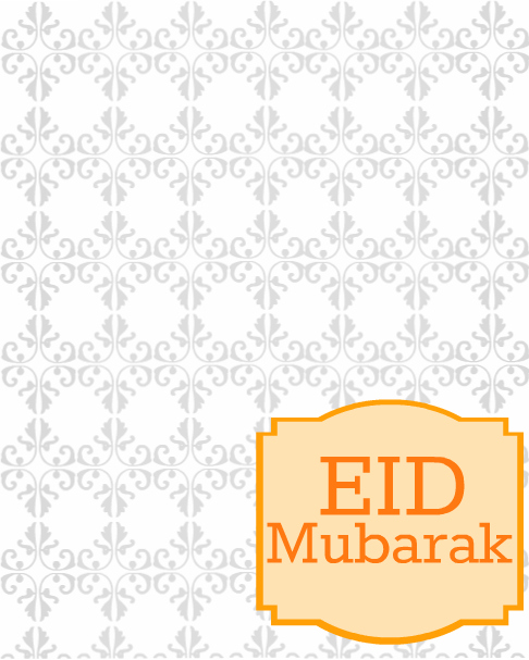 Eid Greeting Card Orange  Eid Card Templates