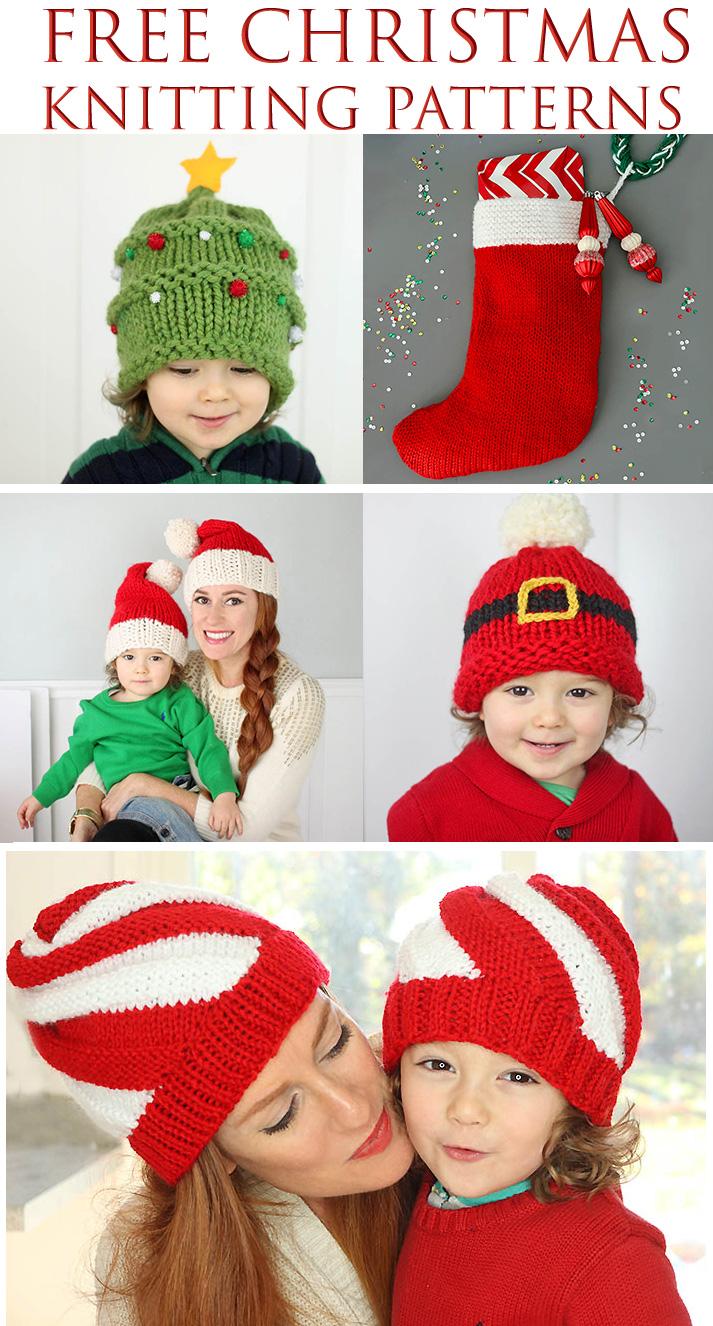 Free Christmas Knitting Patterns - Gina Michele