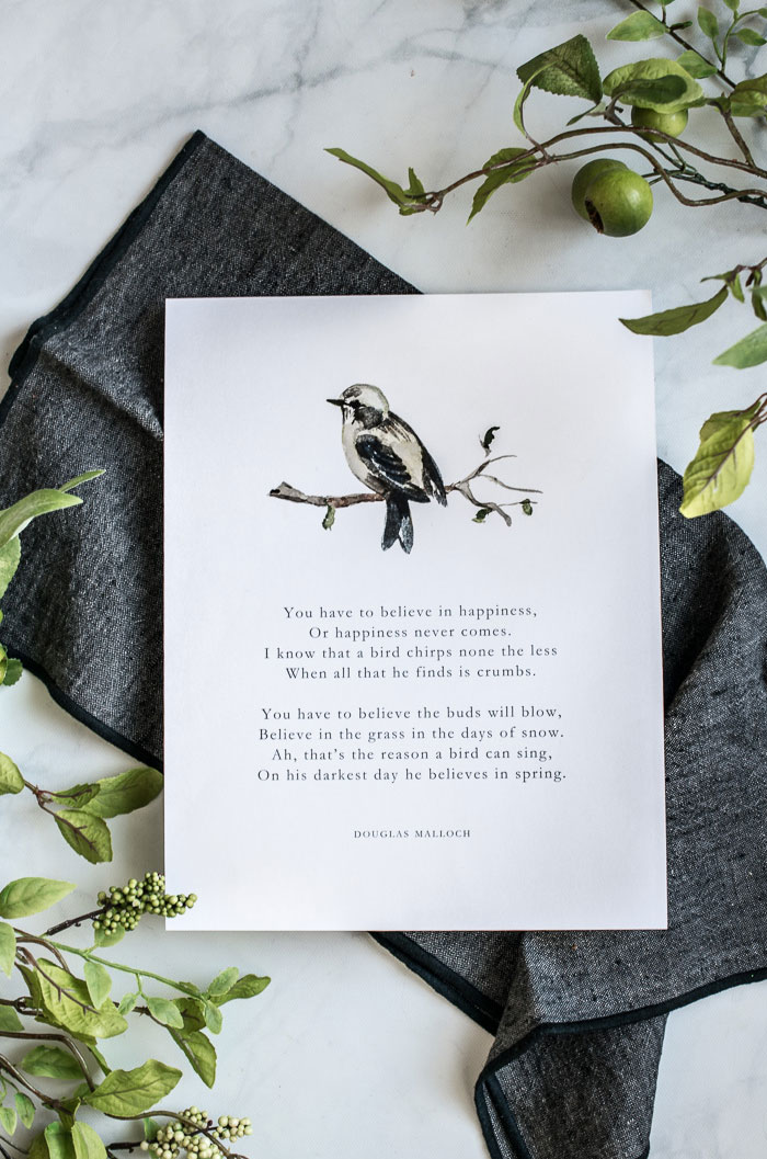 Free watercolor printable of bird