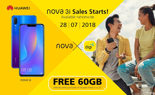 Own the HUAWEI nova 3i with Attractive Postpaid Plans