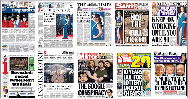 front pages jan 27