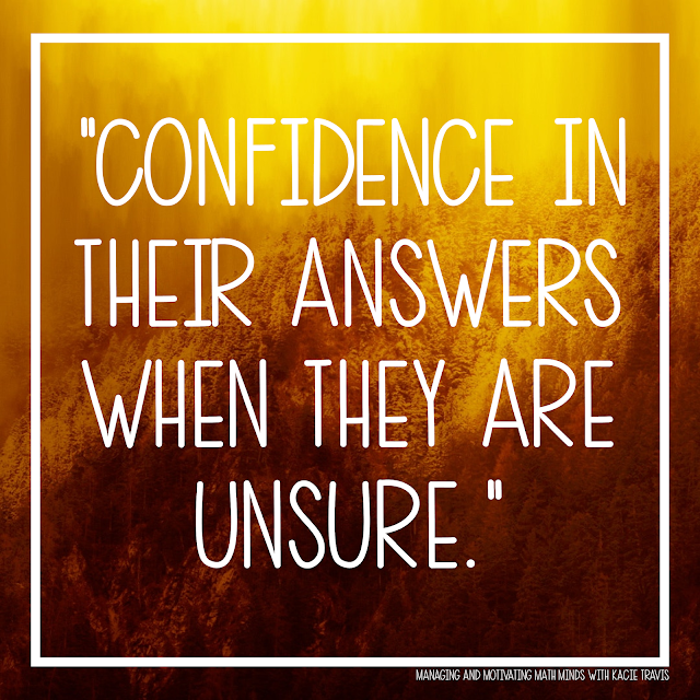 Lord, give my students confidence in their answers when they are unsure.