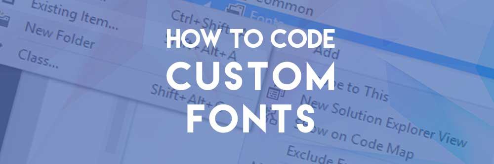 coding custom web fonts