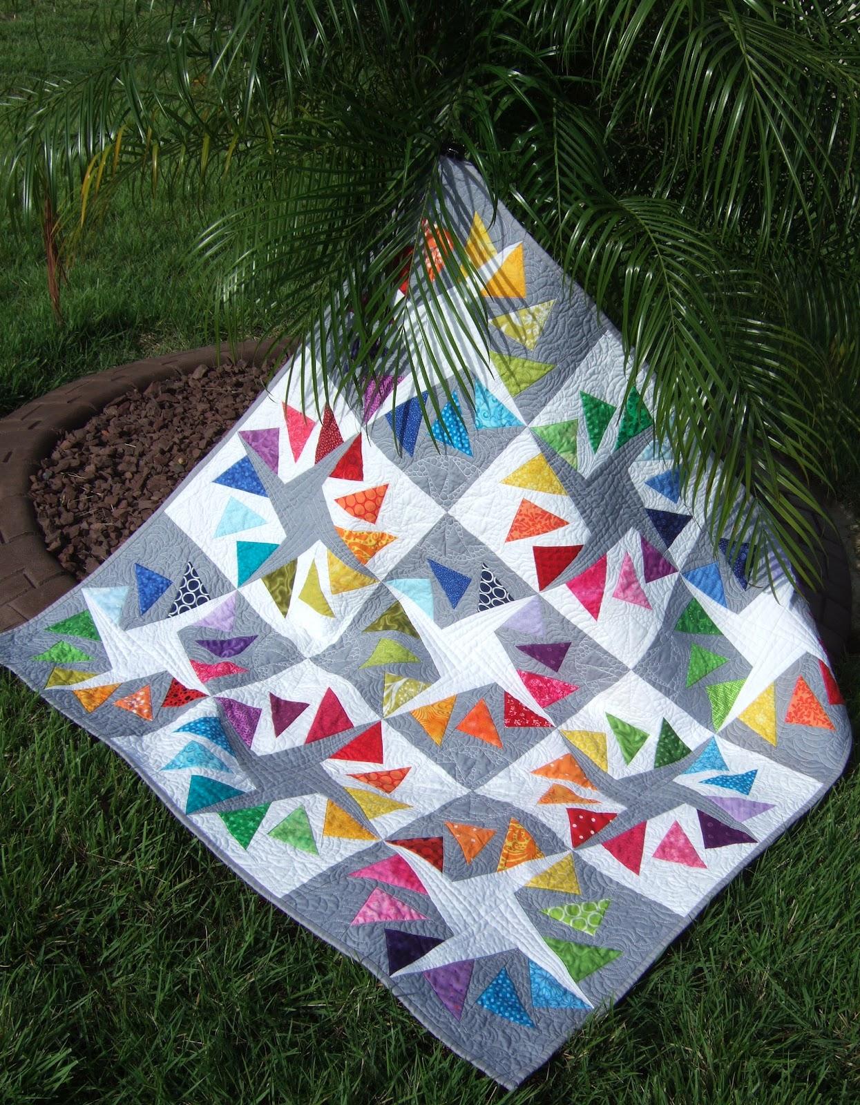 Flourishing Palms A Flying Geese Finish