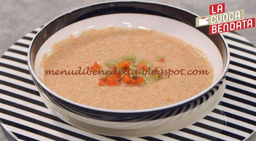 La Cuoca Bendata - Gazpacho allo yogurt ricetta Parodi