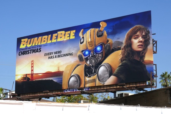 Bumblebee movie billboard