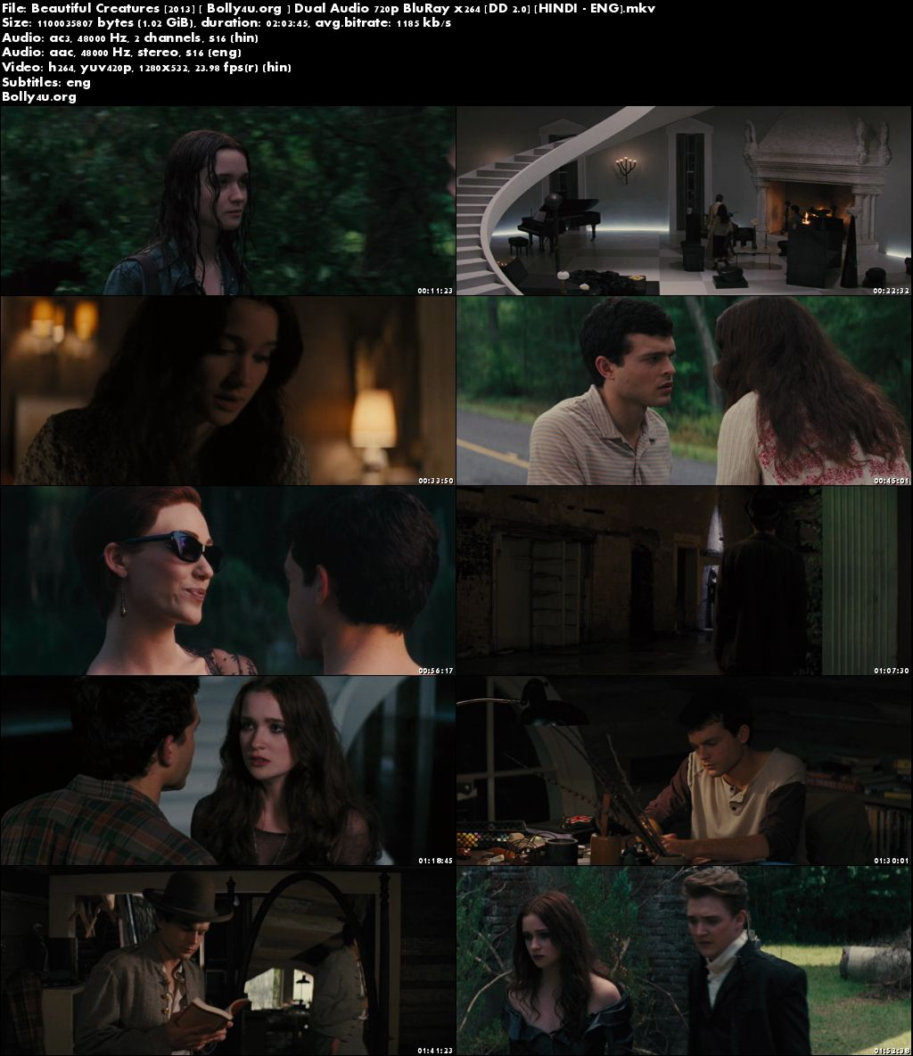 Beautiful Creatures 2013 BluRay 350Mb Hindi Dual Audio ORG 480p Download