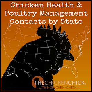 Chicken Health & Poultry Management Contacts listed by STATE
