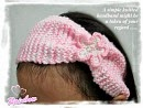 knitted flowers headband