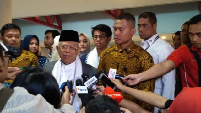 Prabowo Sebut Elite Pendukungnya Diancam, Ma'ruf Amin: Enggak Ada