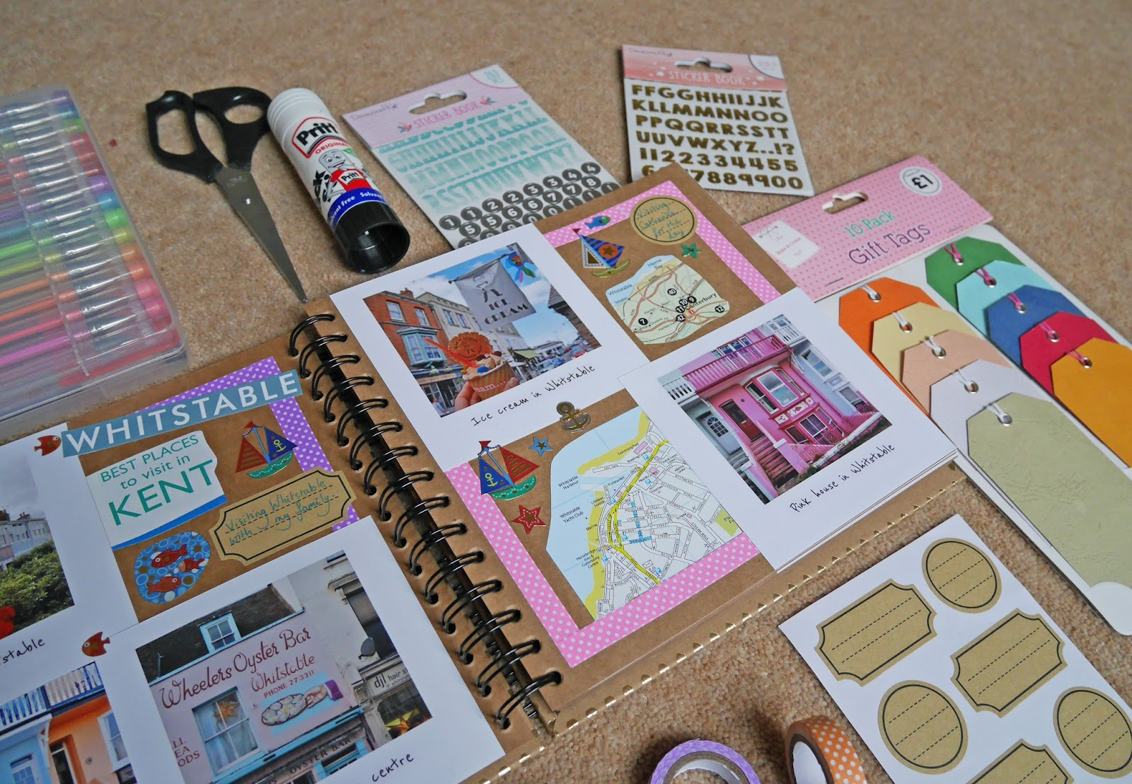 Scrapbooking starter kit for beginners - luggage tags and labels