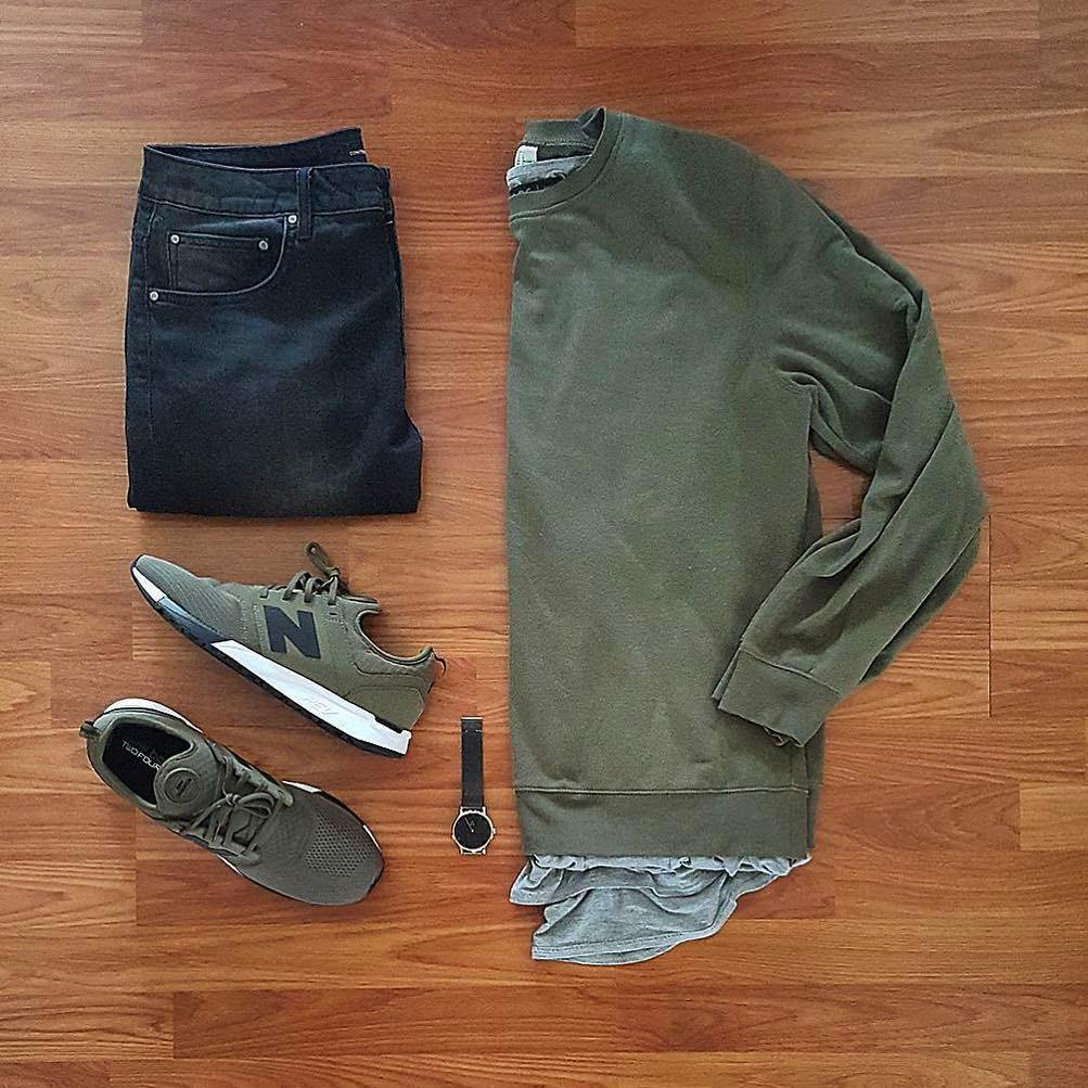 Look Masculino Verde Militar Moletom