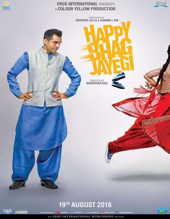 Poster Of Happy Bhaag Jayegi 2016 Hindi 700MB DVDRip x264 Watch Online Free Download downloadhub.net