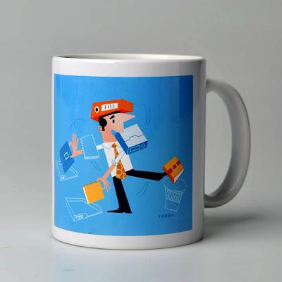 Clod illustration charte du temps sur mug pour le Ministère des Finances