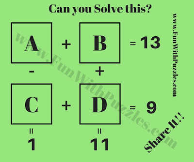 Maths Mind Teaser Puzzle