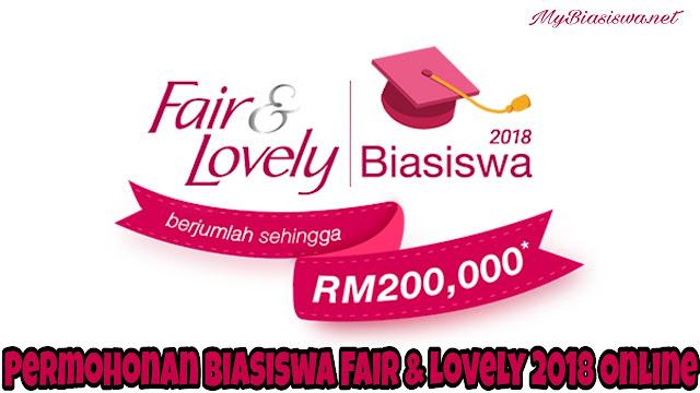Permohonan Biasiswa Fair & Lovely 2018 Online