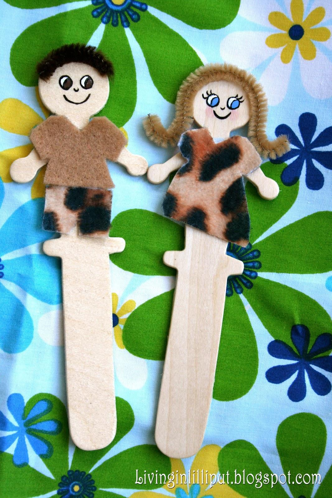 Adam Amp Eve Stick Puppets