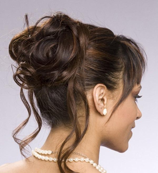 Peinados De Fiesta Con Flequillo Peinados Para Fiestas Pelo Largo