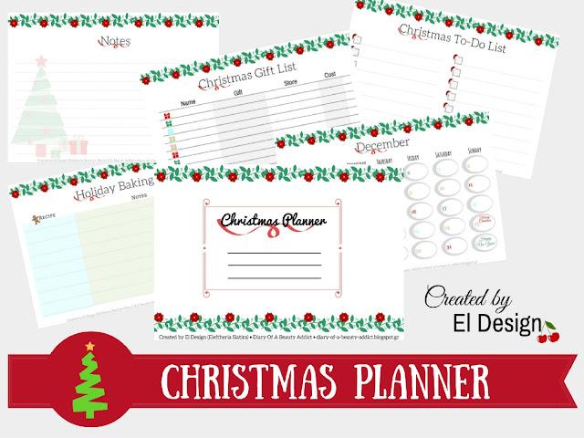 Εκτυπώσιμο Christmas Planner [ΔΩΡΕΑΝ]